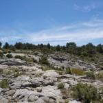 Steiniges Gelände ohne sichtbaren Weg